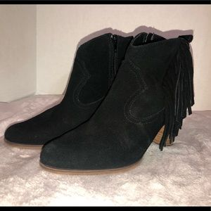 STEVE MADDEN ANKLE FRINGED BOOTS LADIES SIZE 8